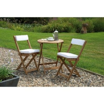 Gablemere Raffles Bistro Set with Grey Cushions