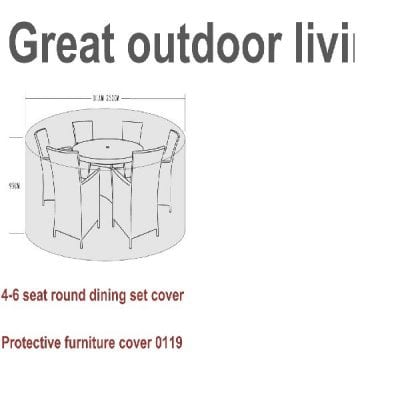 Signature Weave Furniture Cover – 4-6 seater dining