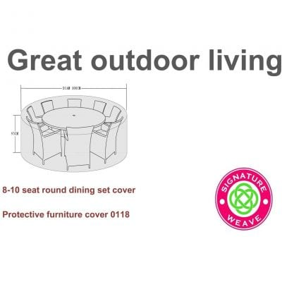 Signature Weave Furniture Cover – 8-10 seater dining