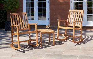 Gablemere 3pce Kingswood Rocking Chair Set Natural