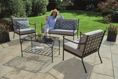 Gablemere Doverdale 4 Pce Metal Sofa Set with Cushions