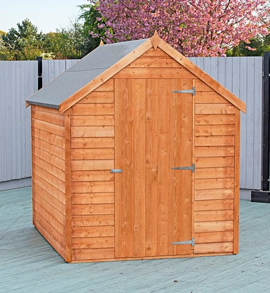 Shire Overlap 8X6 Value Dip Treated Garden Shed (WITH WINDOW)