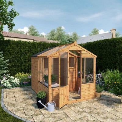 Mercia 8 x 6 Traditional Apex Greenhouse Combi Shed