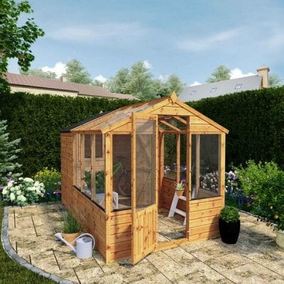 Mercia 10 x 6 Traditional Apex Greenhouse Combi Shed