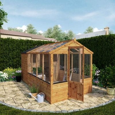 Mercia 12 x 6 Traditional Apex Greenhouse Combi Shed