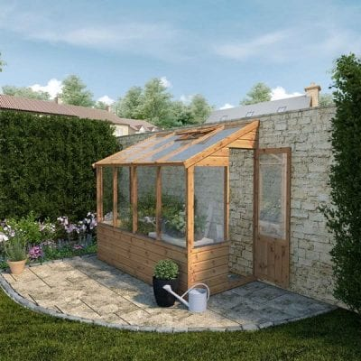 Mercia 8 x 4 Traditional Lean To Greenhouse