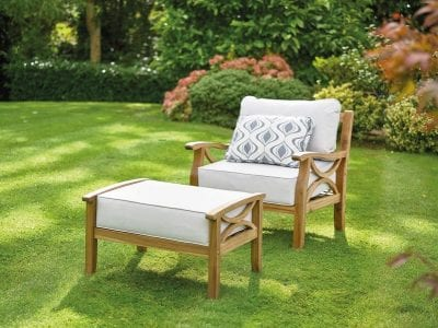 Gablemere Sorrento Armchair with Footrest and Cushions