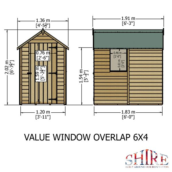 Shire Overlap 6×4 Value with Window