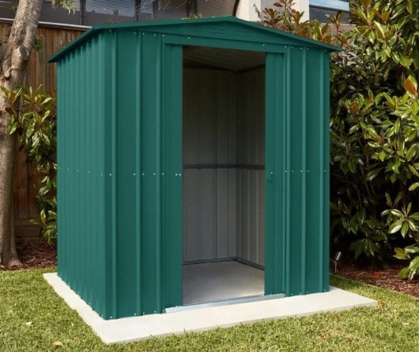 Lotus Apex Roof Shed 6 x 8 Heritage Green