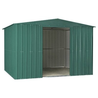Lotus Apex Roof Shed 10 x 8 Heritage Green
