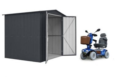 Lotus Double Hinged Mobility Apex Roof Shed 8 x 6 Anthracite Grey