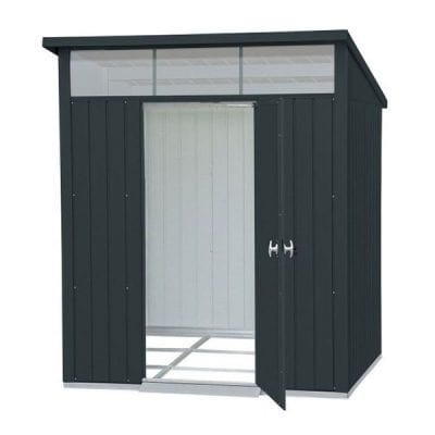 Falcon 6 X 5 Heavy Duty Metal Single Door Shed in Anthracite