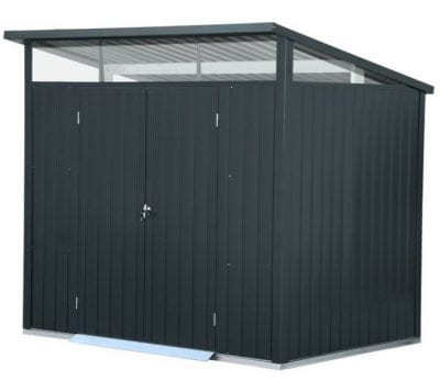 Falcon 8 X 6 Heavy Duty Metal Double Door Shed in Anthracite