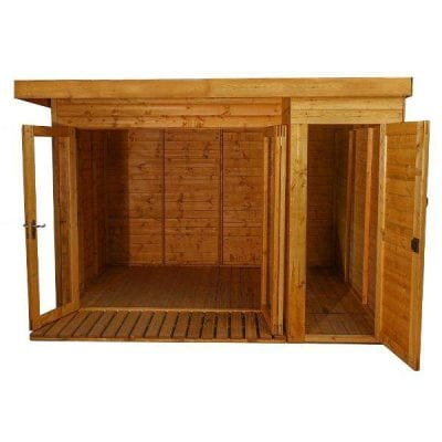 Mercia 10 x 8 Premium Garden Room Summerhouse With Side Shed
