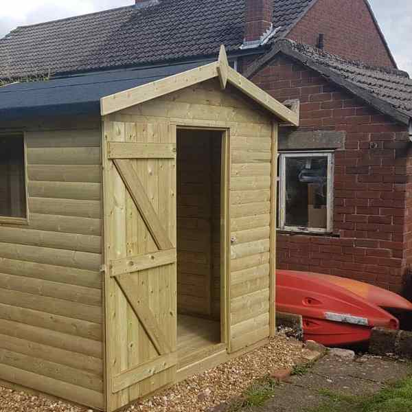Churnet Valley 8×6 Apex Shed
